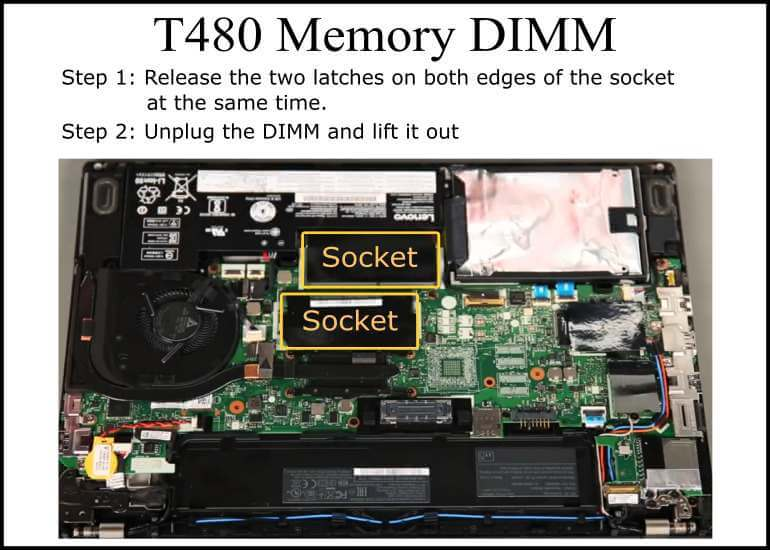 T480 Memory DIMM Location
