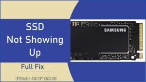 SSD Not Showing Up